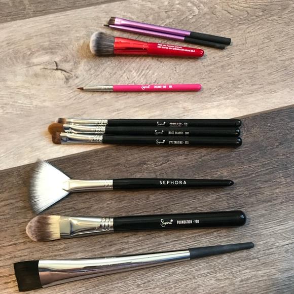 e483188e4 Sigma Beauty Makeup | Brush Set Sephora Sigma Real Techniques | Poshmark